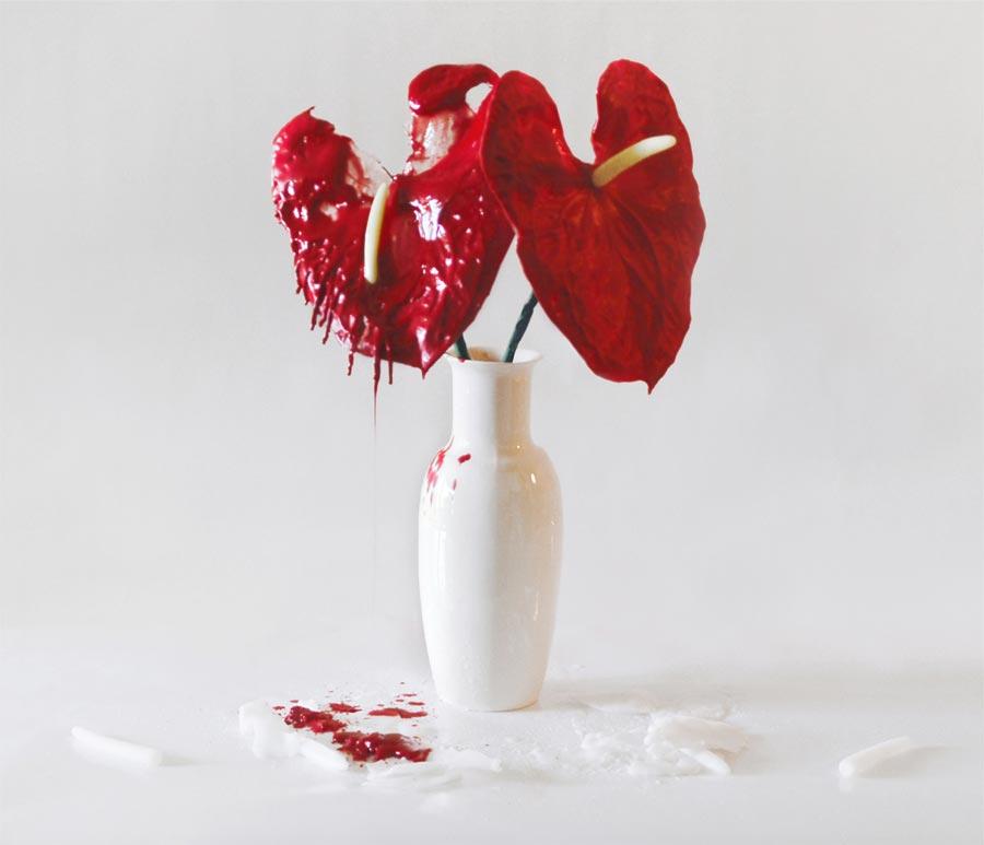 melting wax sculpture